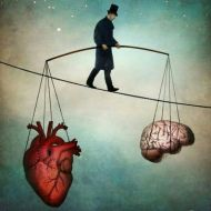 brain and heart art balance