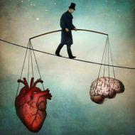 brain and heart art balance